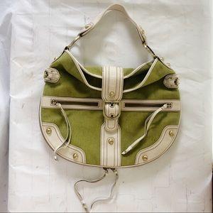 [Rafe] green canvas hobo circle bag